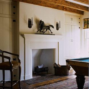 Elegant family room photo in Philadelphia