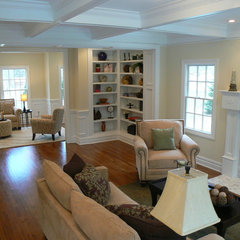traditional family room by Whitehall Interiors & Home Staging