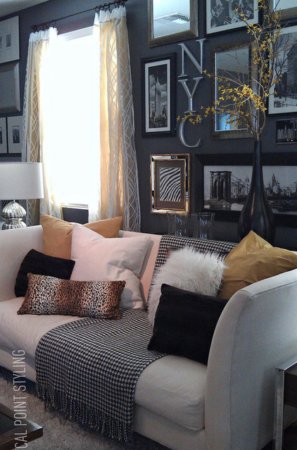 Eclectic Family Room by FOCAL POINT STYLING