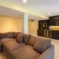Contemporary Family Room by Riemer Kitchens & Fine Cabinetry