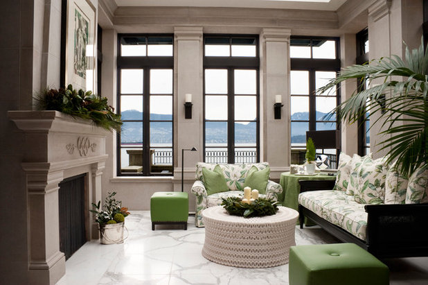 American Traditional Family Room by Kindred Construction Ltd.