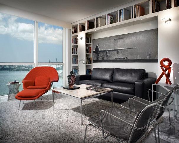 Contemporary Family Room by Pepe Calderin Design- Modern Interior Design