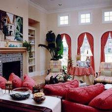 Mediterranean Family Room by New Design Studios