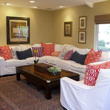 eclectic family room by Anthology Interiors