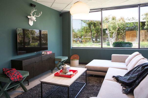 Contemporary Family Room by Caitlin & Caitlin Design Co.