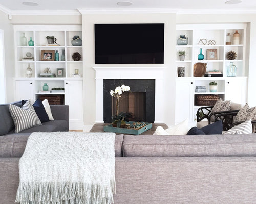 Farmhouse Family Room Design Ideas Remodels Photos With