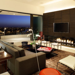 contemporary family room by Magni Inc