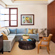 Contemporary Family Room by Jeremy Harnish Designer Finishes