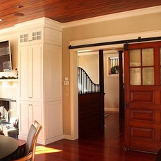 Traditional Family Room by Red House Custom Building