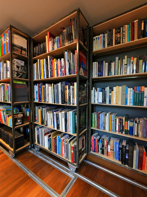 movable bookcase houzz