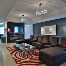 Contemporary Family Room by Miriam Moore Design Studio LLC