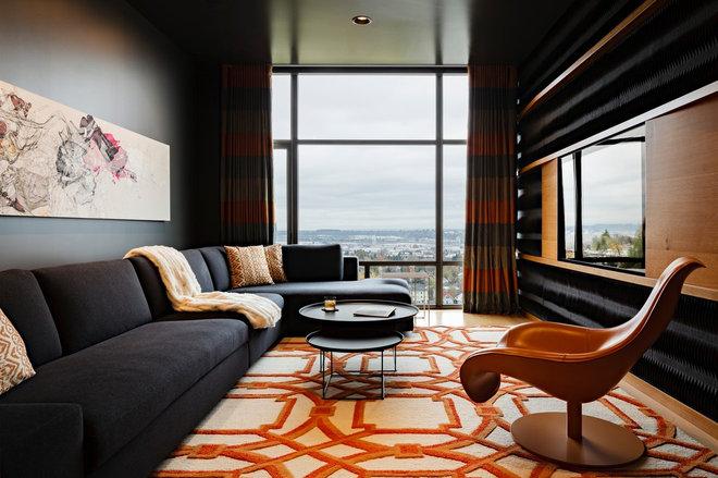 Contemporary Family Room by Maven Interiors