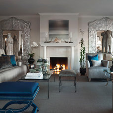 Eclectic Family Room by Candace Barnes