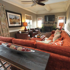 Eclectic Family Room by Design To Go