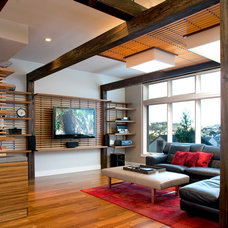 Contemporary Family Room by Doran Construction and Design, Inc.