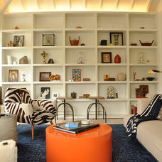 Eclectic Family Room by Ian Stallings