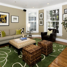 Contemporary Family Room by Amoroso Design