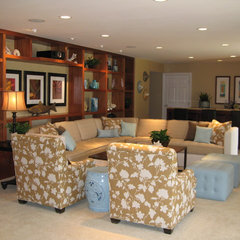 tropical family room by D for Design
