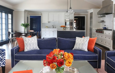 Room of the Day: New Family Room Goes Big and Bold