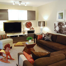 Contemporary Family Room by Megan Buchanan
