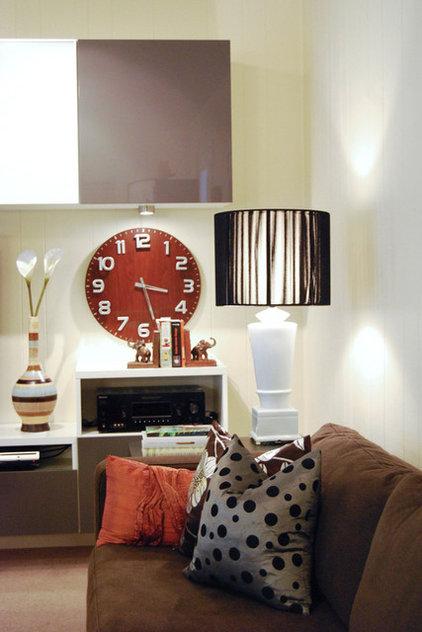 Contemporary Family Room by Megan Buchanan