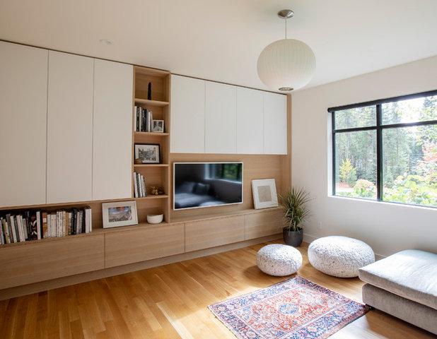 Contemporary Family Room by Novak + Huizenga Studio