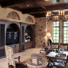 Mediterranean Family Room by Palmieri Builders