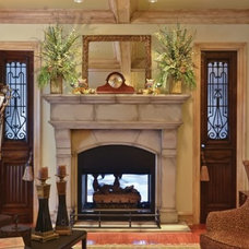 Traditional Family Room by Old World Stoneworks