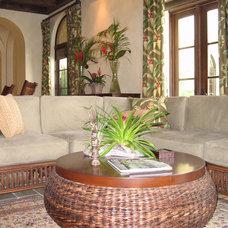 Tropical Family Room by Elias Benabib, Corp.