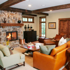 Traditional Family Room by michelle williams interiors