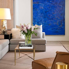 Contemporary Family Room by R Brant Design