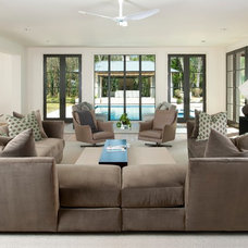 Contemporary Family Room by TATUM BROWN CUSTOM HOMES