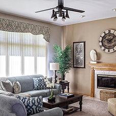 Traditional Family Room by Tiffany Brooks, HGTV Host & Interior Designer