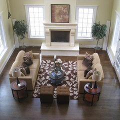 traditional family room by Steffanie Danby Interiors