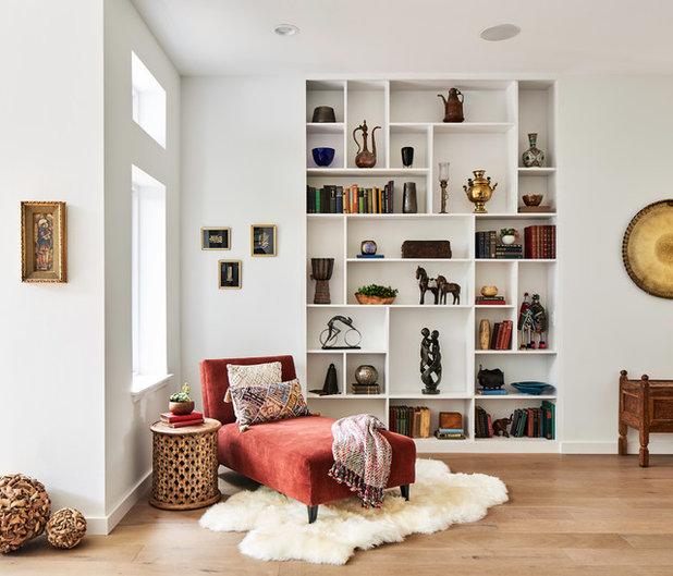 Midcentury Family Room by Lynn Unflat Interiors, LLC