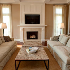 Traditional Family Room by Burrus Architecture & Construction, LLC