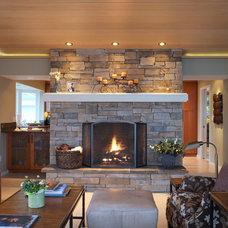 Traditional Family Room by Nancy Finneson, AKBD, CAPS / DeMane Design