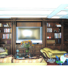 Traditional Home Theater by R J Hoppe Inc
