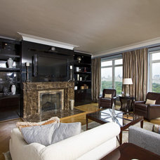 Traditional Family Room by A. Rejeanne Interiors