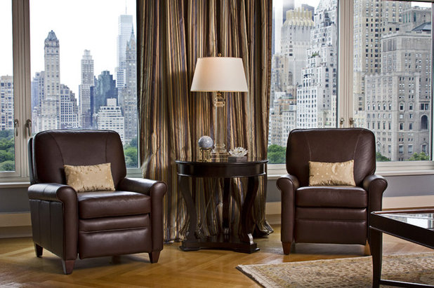 Traditional Family Room by A. Rejeanne Interiors - Objects Of Desire: Recliners That Don't Look Like Recliners