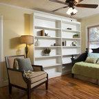 White TV Cabinet/ Bookshelf - Traditional - Family Room - Charleston - by Hostetler Custom Cabinetry