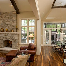 family room by Oakley Home Builders