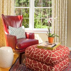 Eclectic Family Room by Rachel Bauer Design LLC