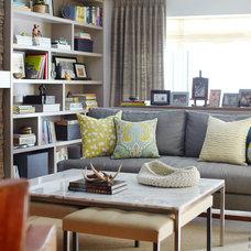 Eclectic Family Room by Lisa Ferguson Interior Design