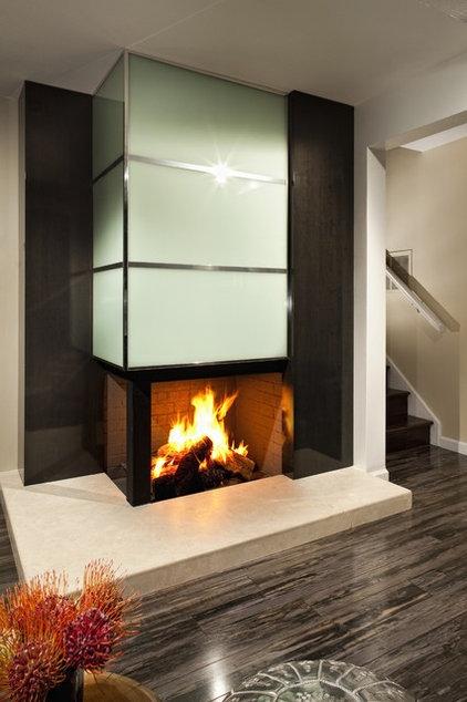 Modern Family Room by FLO Design Studio