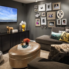 modern family room by FLO Design Studio