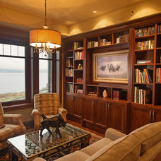 Traditional Family Room by Denise Mitchell Interiors