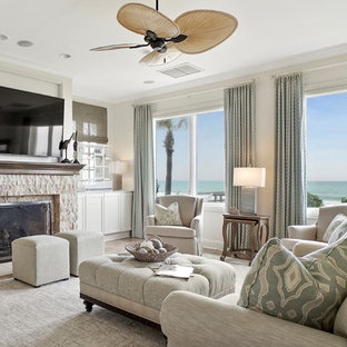 75 Beach Style Family Room Design Ideas & Remodeling Pictures That ...