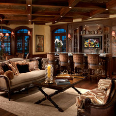 Mediterranean Family Room by ROBERT WADE AND ASSOCIATES