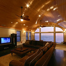 Beach Style Family Room by Stratton Design Group